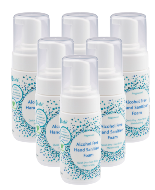 bsafe™ – Alcohol free Hand Sanitiser Foam for Adults 100ml (6pack)