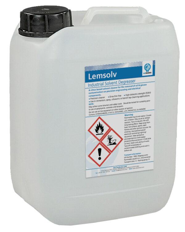 Lemsolv Precision Cleaning Citrus based Solvent – 4 x 5 LITRE